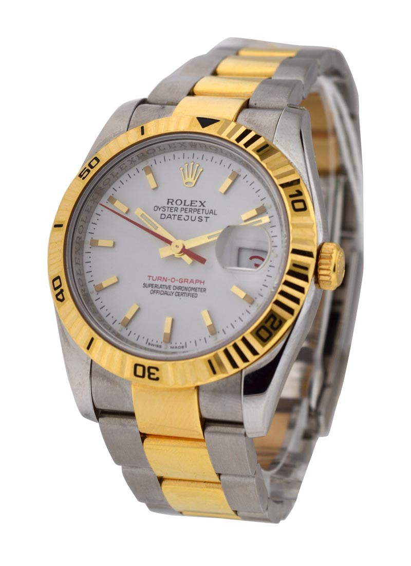 Rolex Used Turn O Graph 2 Tone with Oyster Bracelet