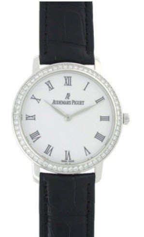 Audemars Piguet Jules Audemars Ladies 33mm Manual in White Gold with Diamond Bezel