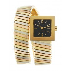 Bvlgari Serpenti Tubogas Square 22mm Quartz in Tri Color Gold