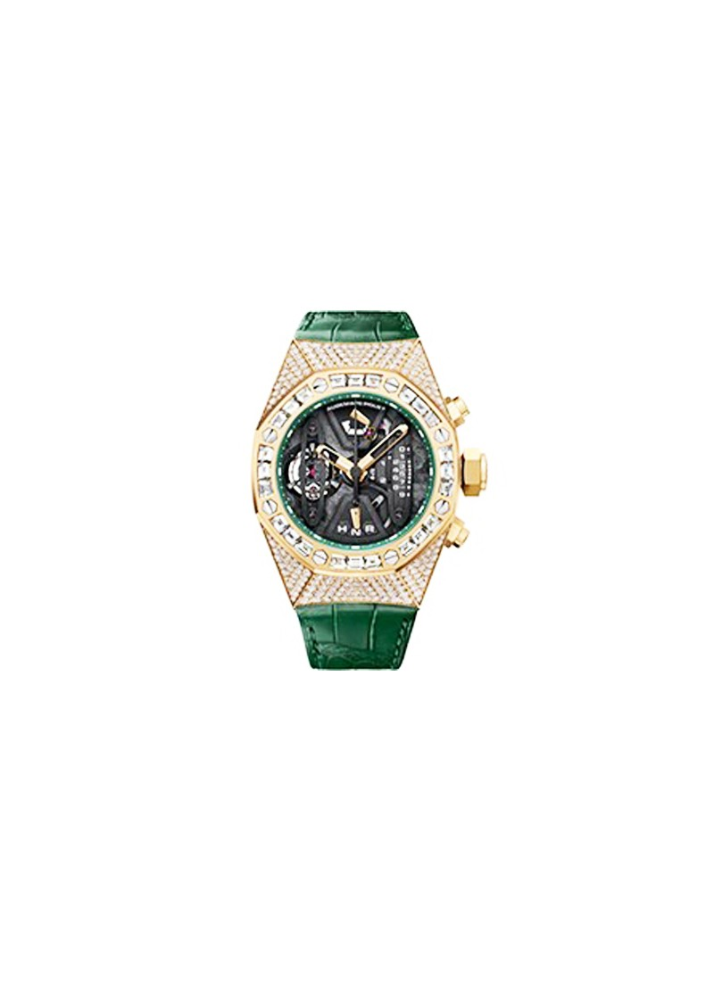 Audemars Piguet Tourbillon Chronograph in Ceramic, Yellow gold with Diamond Case