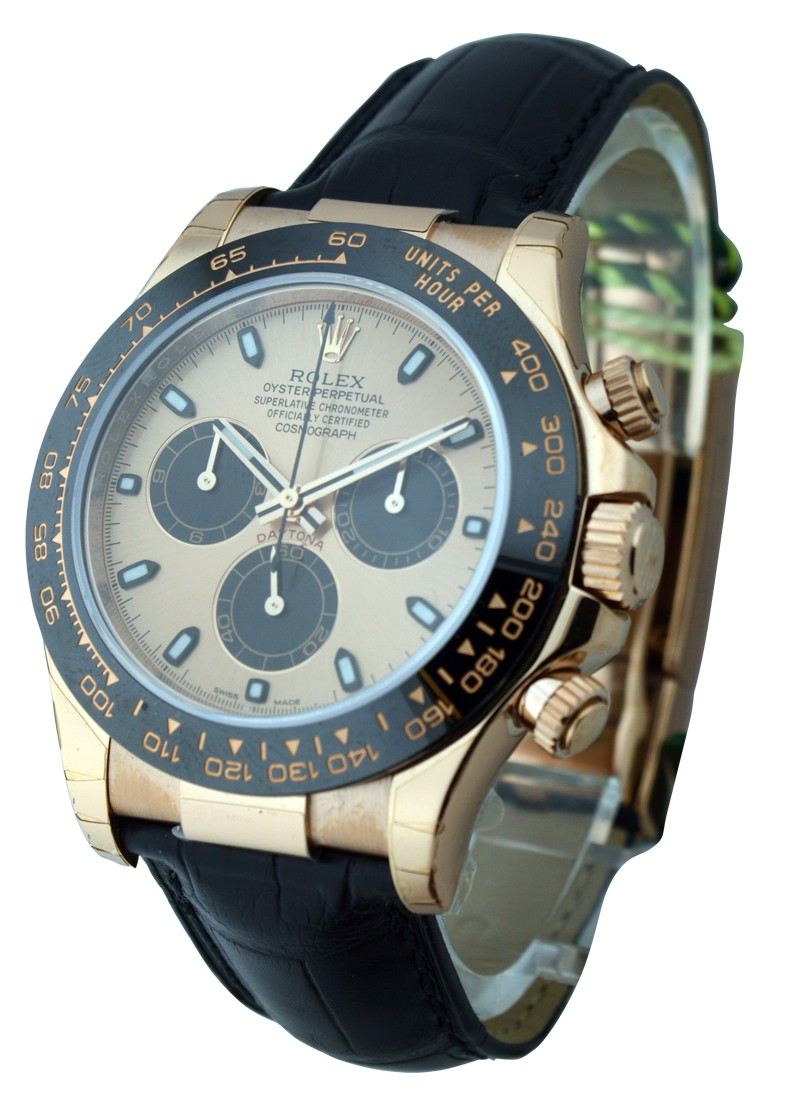 Rolex Unworn Daytona Cosmograph in Rose Gold with Black Ceramic Bezel