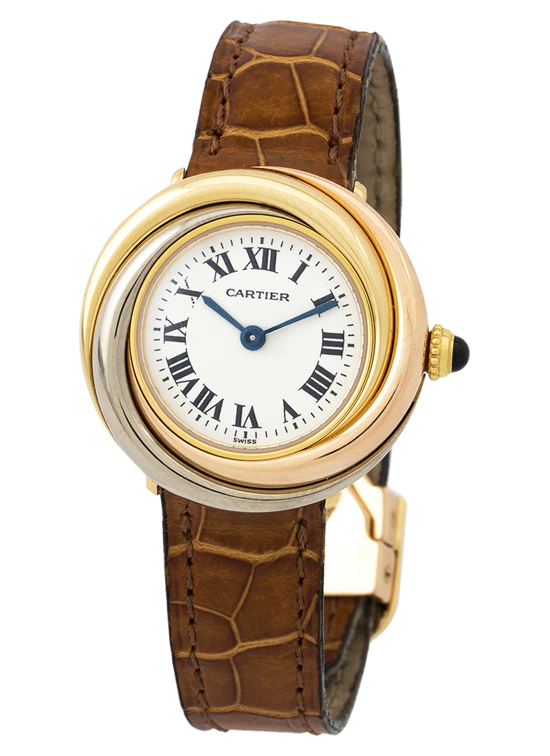 Cartier Trinity Ladies 27mm Quartz in Tri-Gold