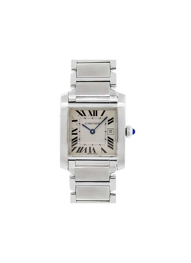 Cartier Tank Francaise Midsize Mens Quartz in Steel