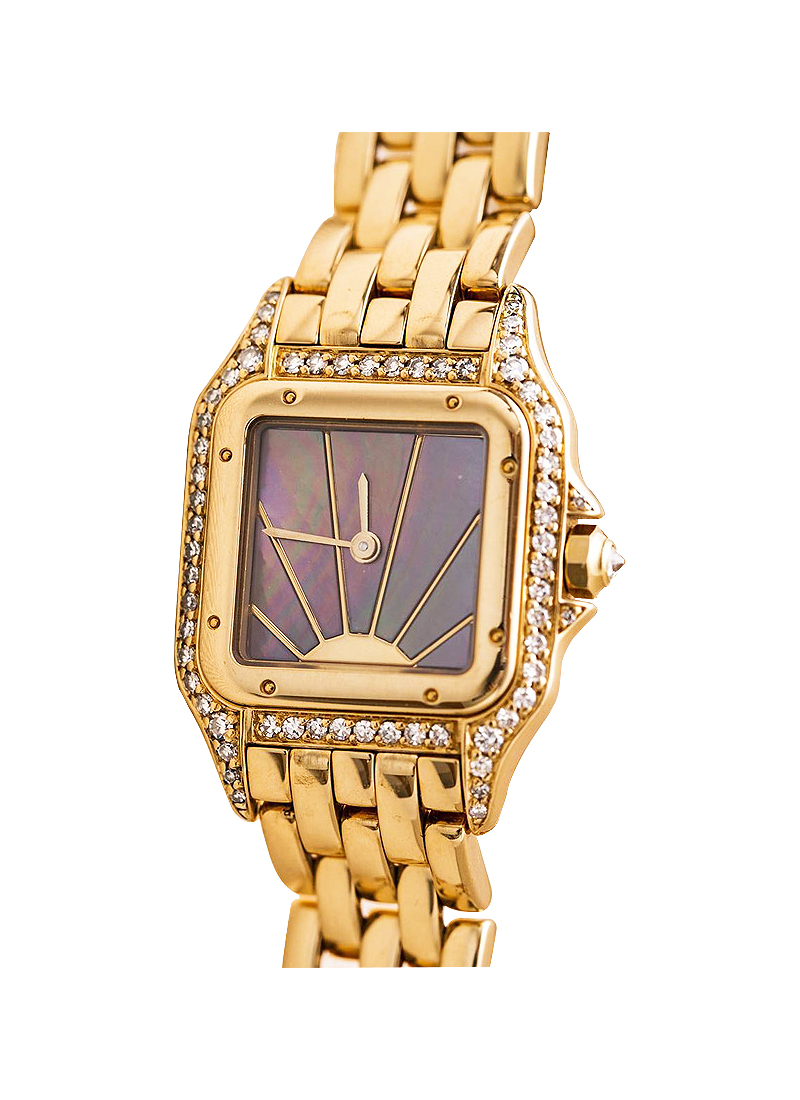 Cartier Panthere Vintage Ladies Quartz in Yellow Gold with Diamond Bezel