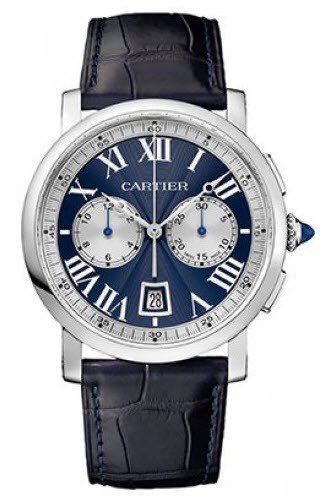 Cartier Rotonde Mens 40mm Automatic in White Gold