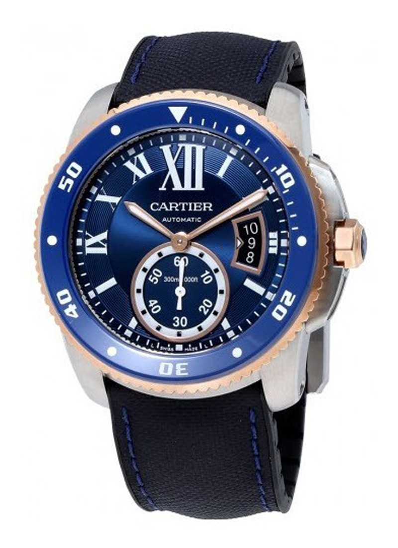 Cartier Calibre de Cartier Diver in Steel with Rose Gold Bezel