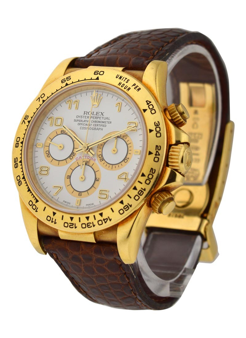 Rolex Used  Yellow Gold  Daytona on Strap with Zenith Movement
