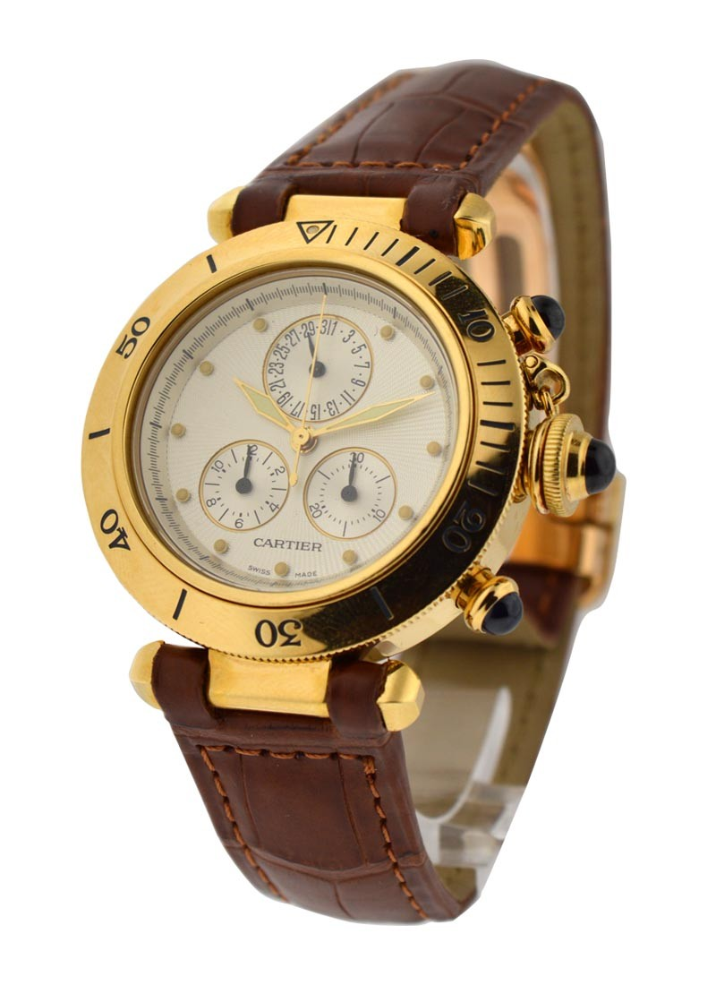 Cartier  Pasha 35mm Chronograph Yellow Gold