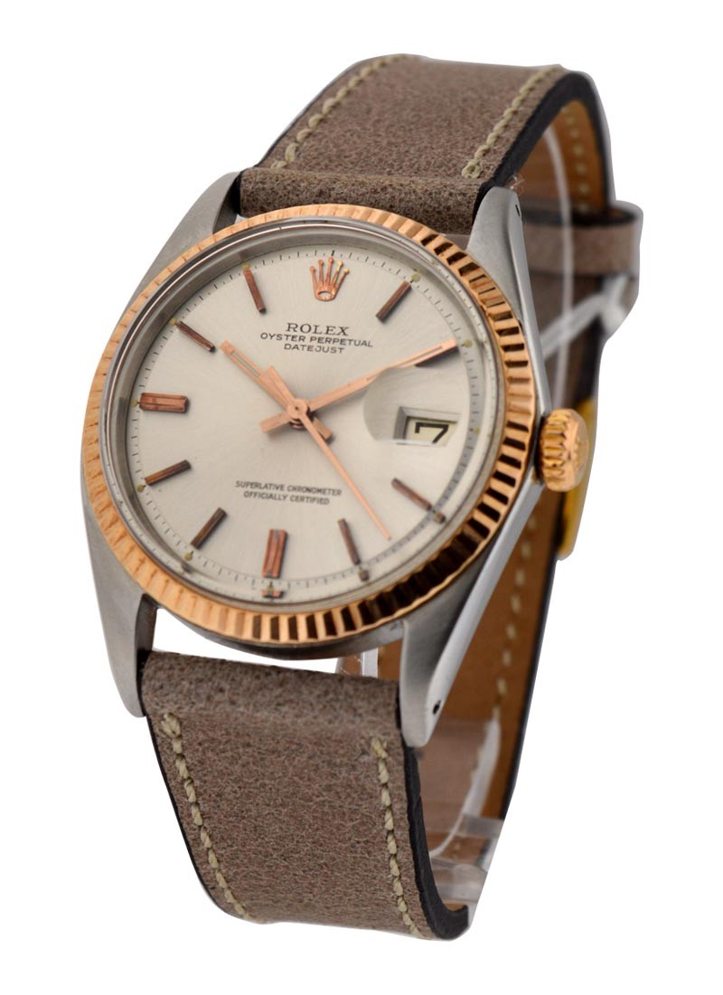 Rolex Used Ref 1601 Datejust Steel and Rose Gold