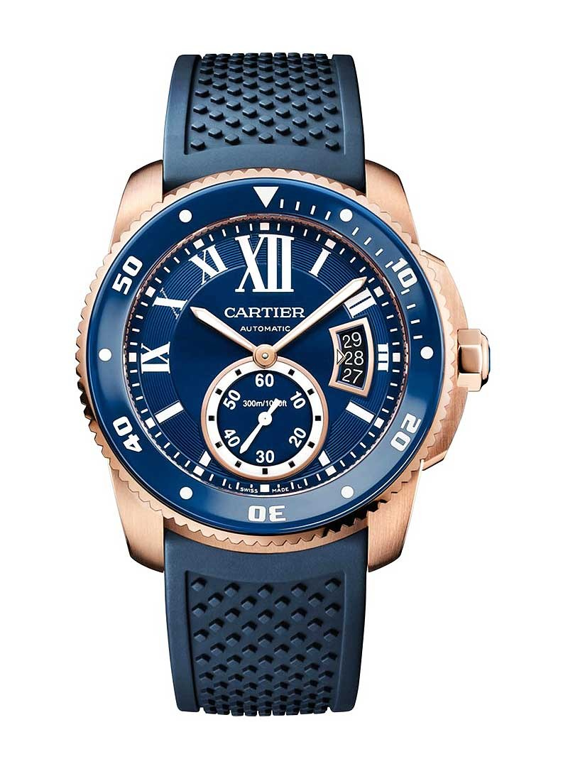 Cartier Calibre de Cartier Mens 42mm Automatic in Rose Gold