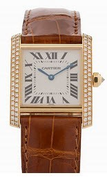 Cartier Tank Francaise Ladies Quartz in Yellow Gold with Diamond Bezel