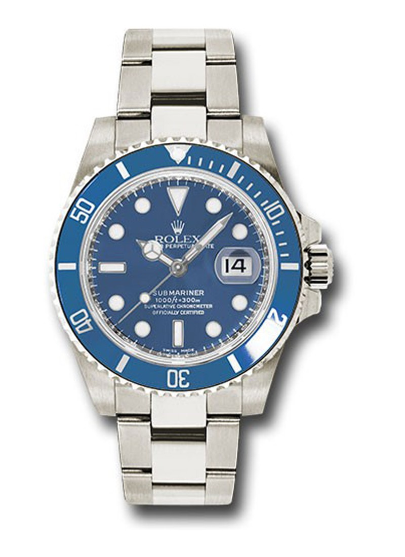 Rolex Used White Gold Submariner   Date Ref 116619