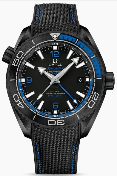 Omega Planet Ocean 600M Co Axial Chronometer in Black Ceramic