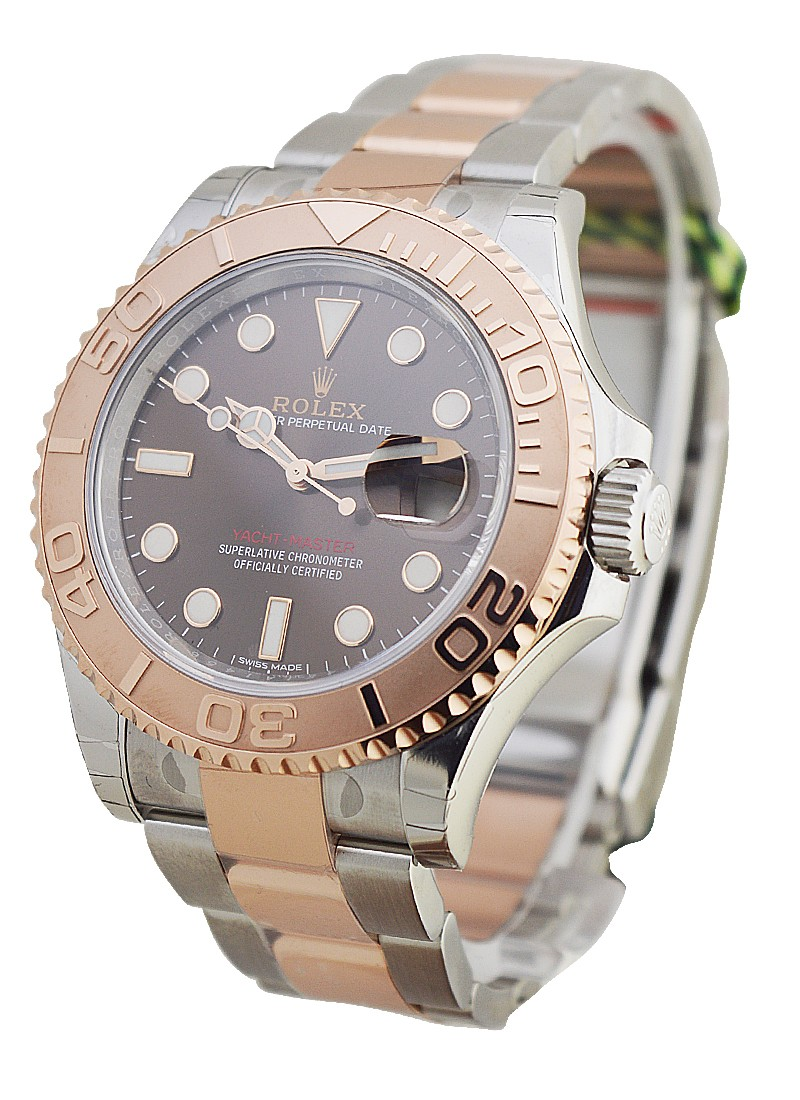 Rolex Unworn Yachtmaster 2 Tone 40mm with Rose Gold  Bezel   116621