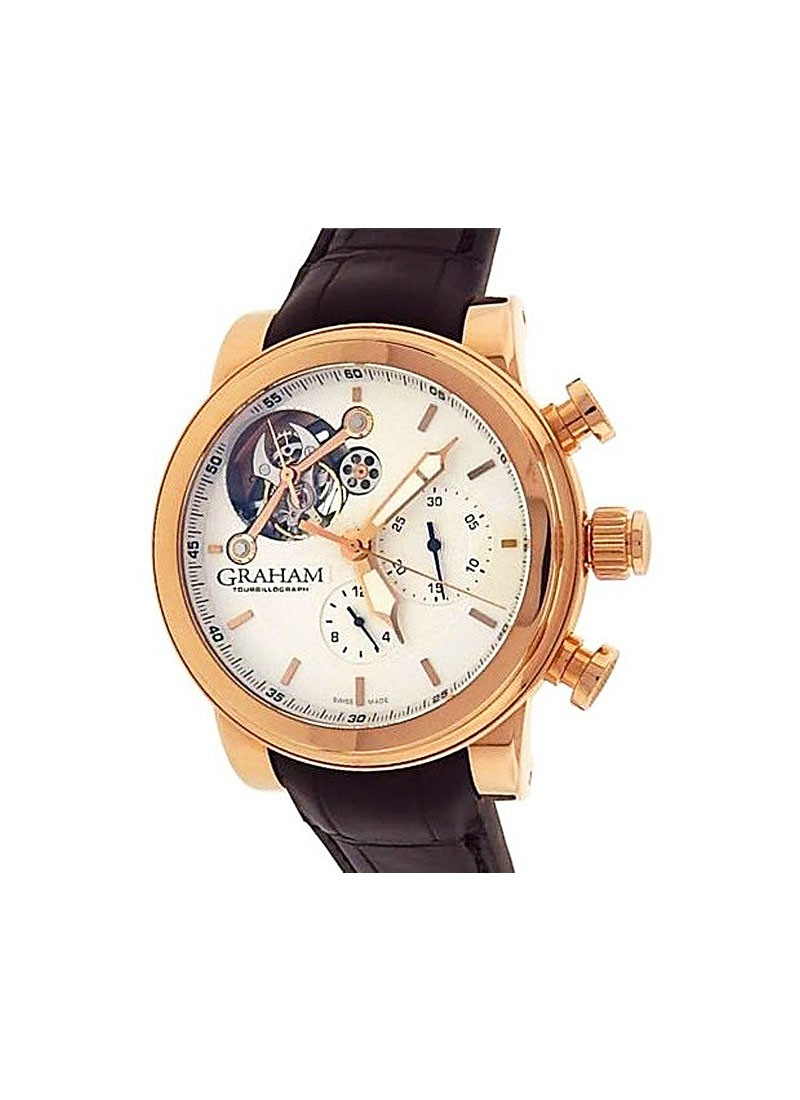 Graham Silverstone Tourbillograph 48mm Automatic in Rose Gold