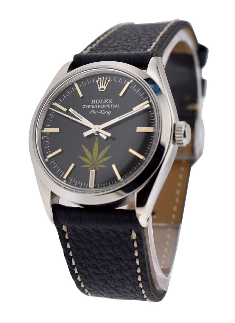 Rolex Used Airking with Marijuana Leaf