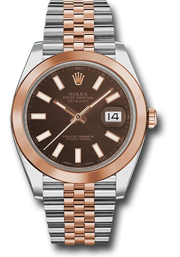 Rolex Unworn Datejust 41mm in Steel with Rose Gold Domed Bezel