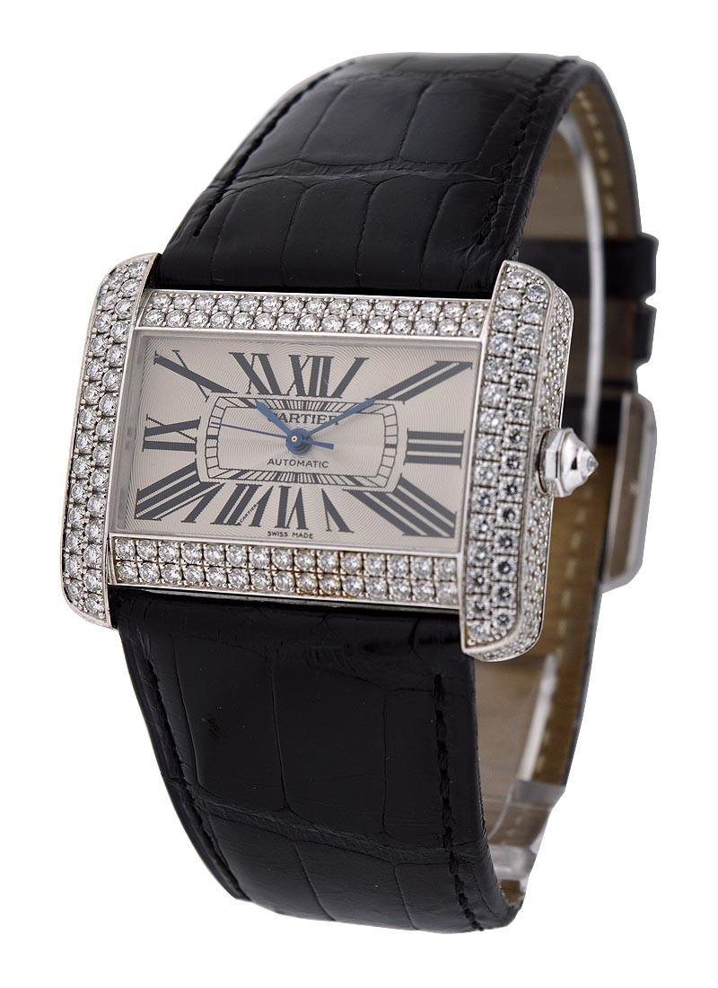 Cartier  Tank Divan Large Size with Factory Diamond Case