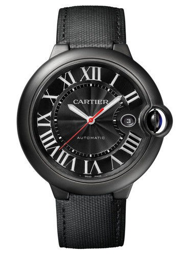 Cartier Ballon Bleu de Cartier Carbon in Black ADLC Coated Steel