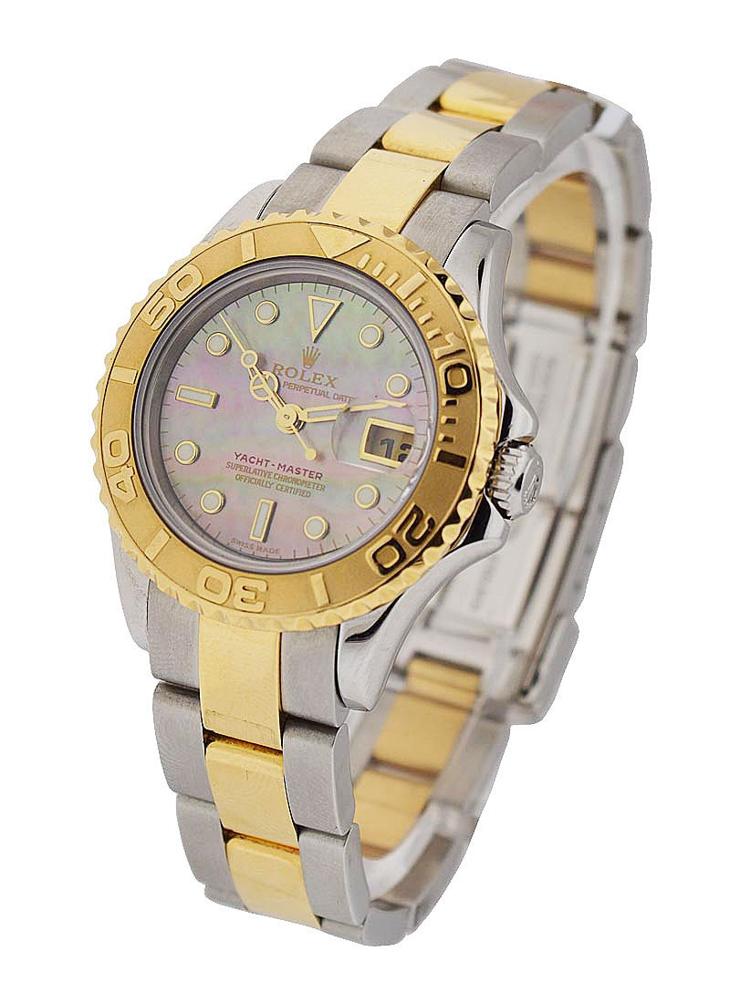 Rolex Used Yacht Master Small Size 29mm Automatic in Steel and Yellow Gold Bezel