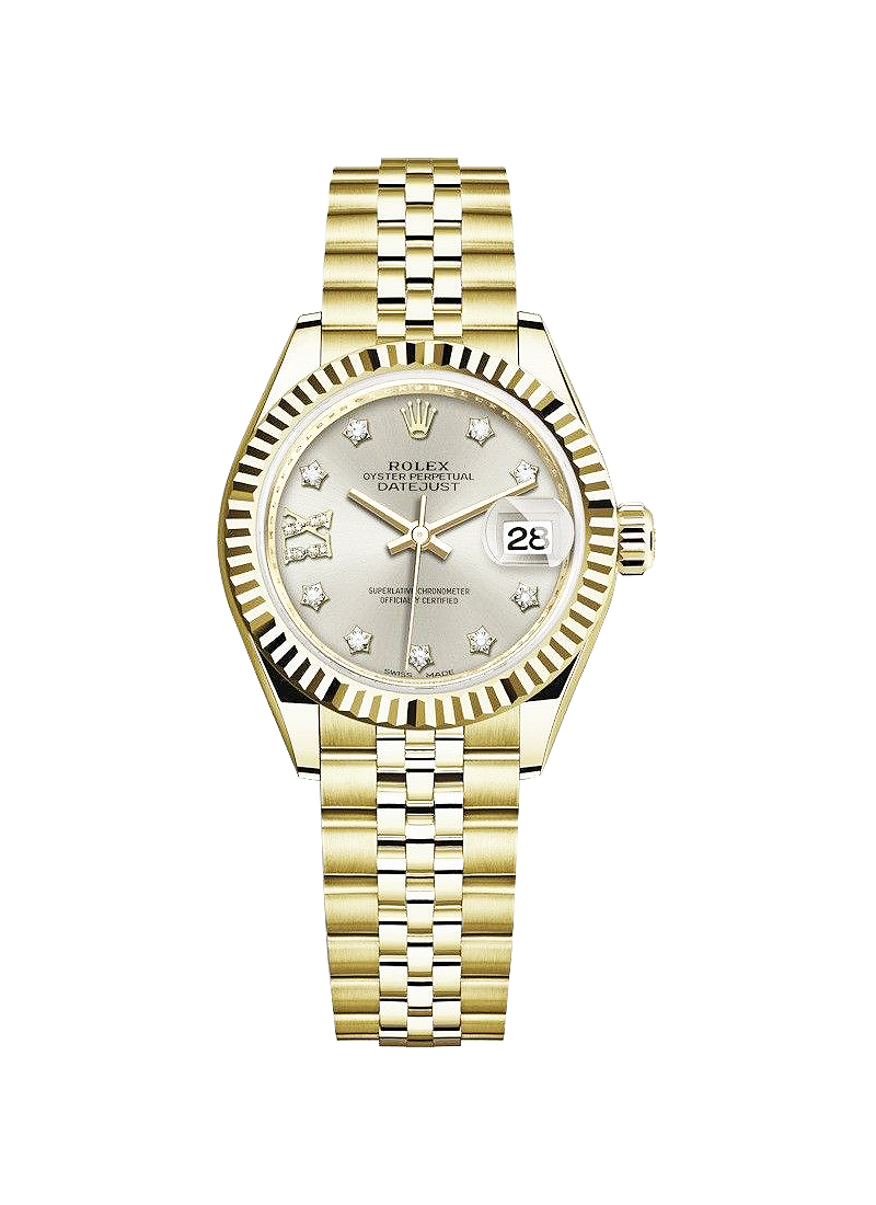 Rolex Unworn Datejust Ladies 28mm in Yellow Gold with Fluted Bezel