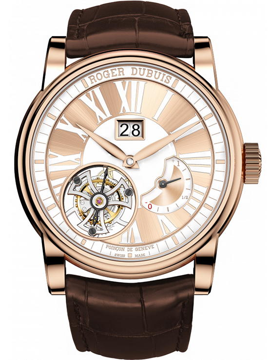 Roger Dubuis Hommage Flying Tourbillon Power Reserve in Rose Gold