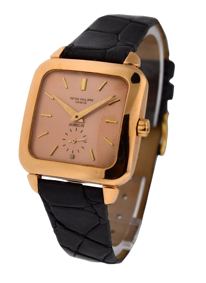 Patek Philippe Ref 2540   Square Shaped Gents Watch Rose Gold