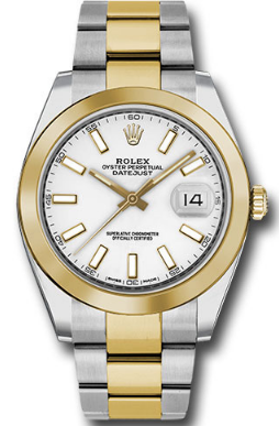 Rolex Unworn Datejust Mens 41mm Automatic in Steel and Yellow Gold  Smooth Bezel