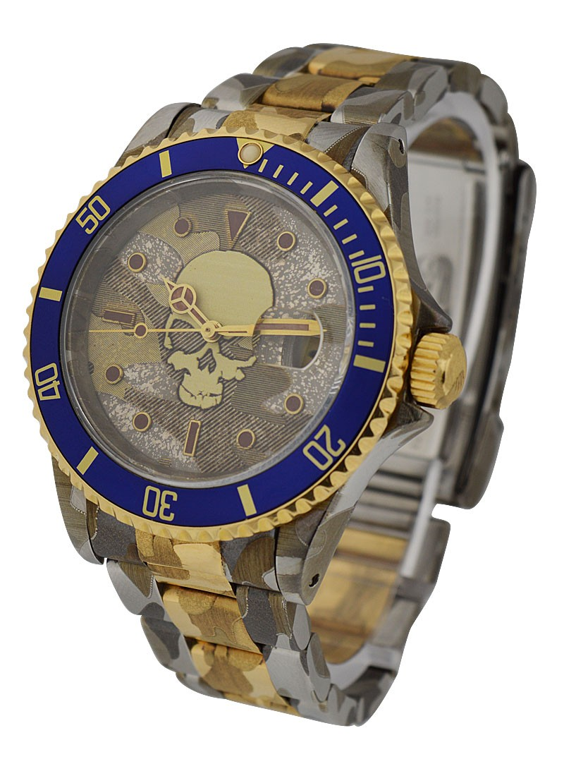 Rolex Used Submariner in Steel with Yellow Gold With Blue Bezel