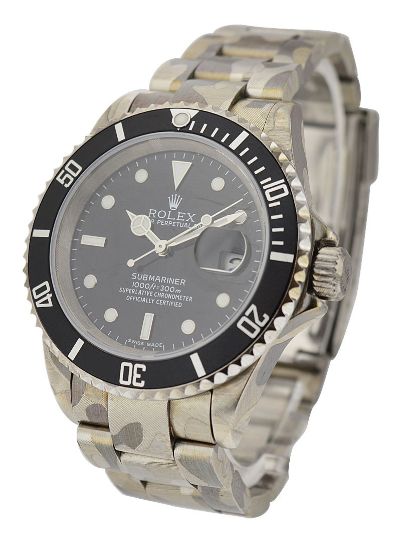 Rolex Used Steel Submariner with Date   Skull Edition
