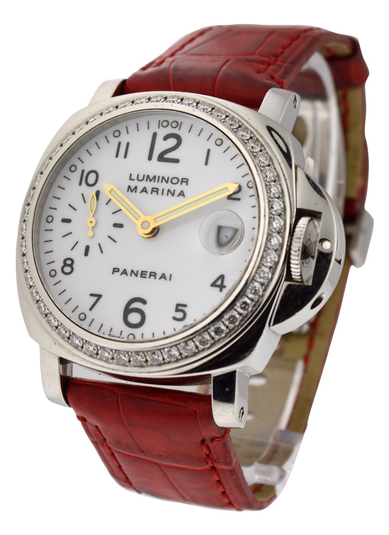 Panerai PAM 179   Marina with original Diamond Bezel in Steel