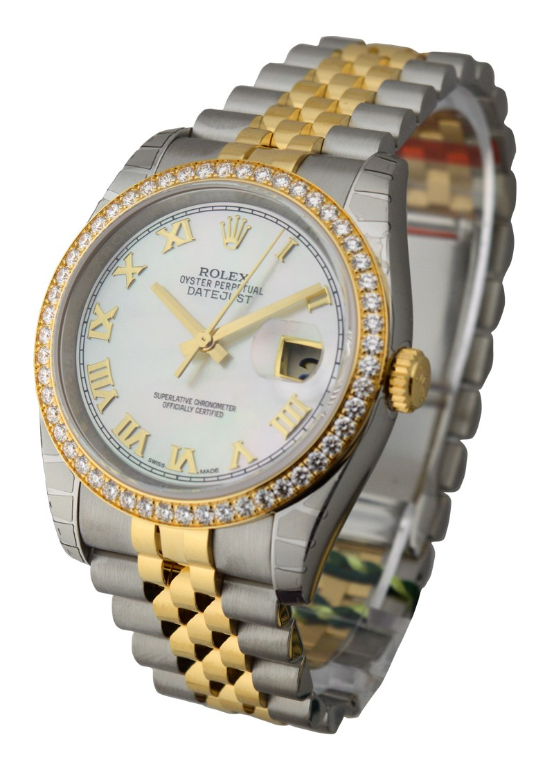 Rolex Unworn Datejust 36mm 2 Tone with Diamond Bezel