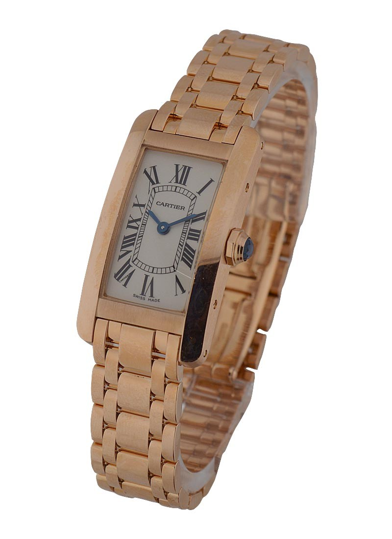 Cartier Tank Americaine in Rose Gold   Small Size