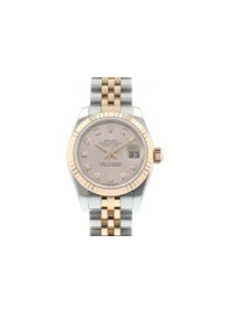 Rolex Used Ladies Datejust   RG/SS 179171 with Fluted Bezel