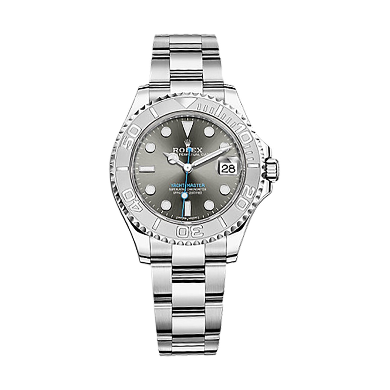 Rolex Unworn Yacht Master 37mm in Steel with Platinum Bezel