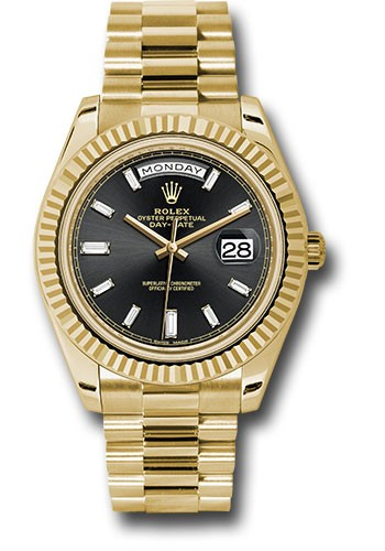 Rolex Unworn Oyster Perpetual Day Date 40 in Yellow Gold with Fluting Bezel