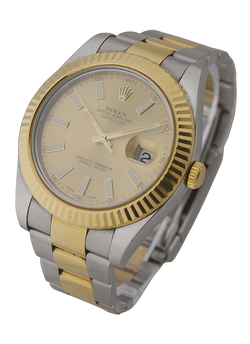 Rolex Used Mens 2 Tone Datejust II with Oyster Bracelet