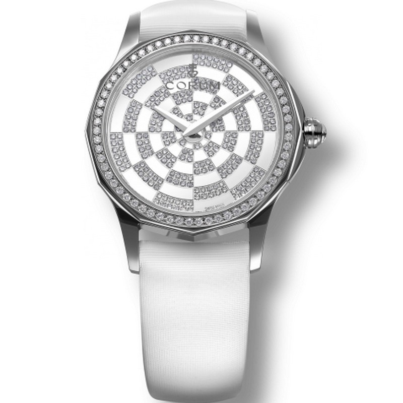 Corum Admiral's Cup Legend Lady in Steel with Diamond Bezel