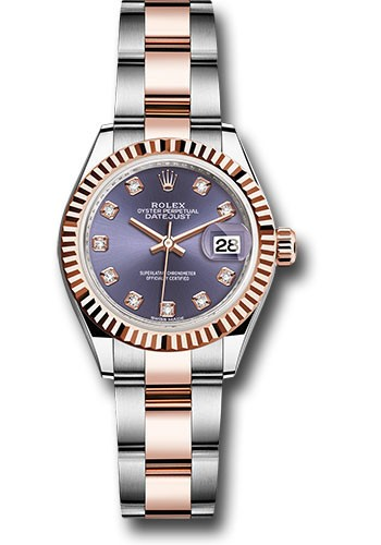 Rolex Unworn Datejust 28mm Automatic in Steel and Rose Gold with Fluted Bezel
