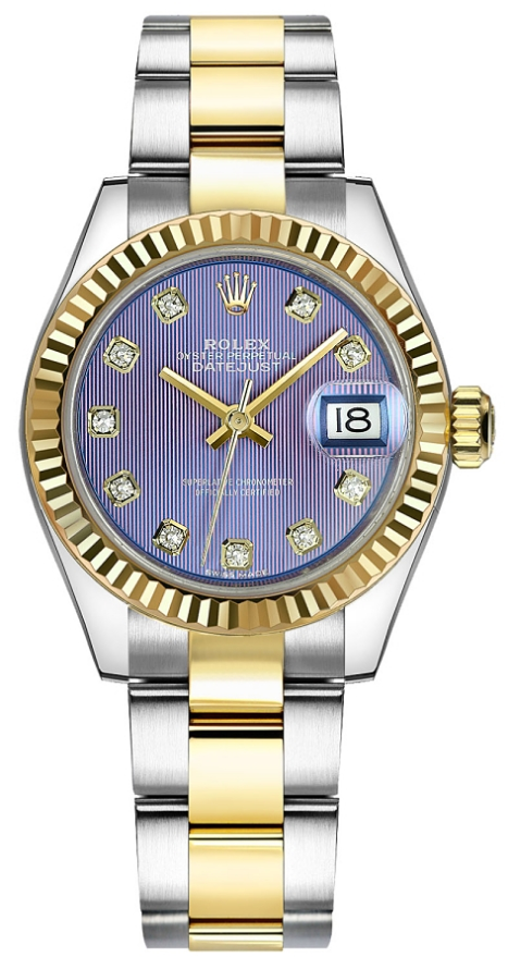 Rolex Unworn 2-Tone Ladies Datejust 28mm in Steel with Yellow Gold Fluted Bezel