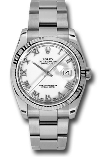 Rolex Used Steel Mens Datejust   Fluted Bezel   Oyster Bracelet