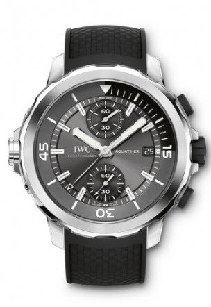 IWC Aquatimer Chronograph Sharks Mens 44mm Automatic in Steel