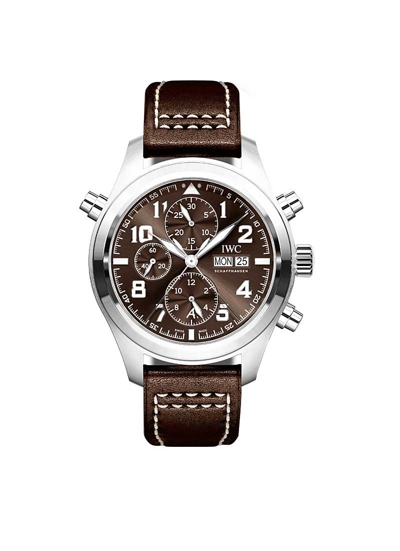 IWC Pilots Double Chronograph in Steel