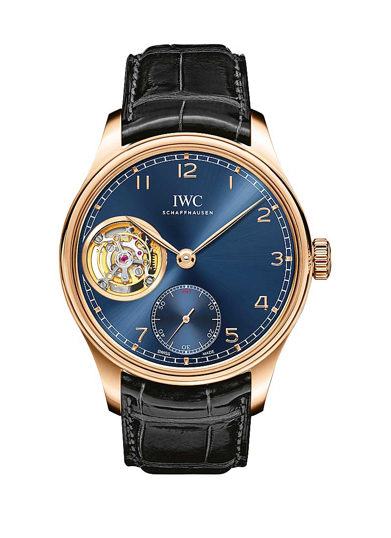 IWC Portugieser Tourbillon Hand-Wound in Rose Gold