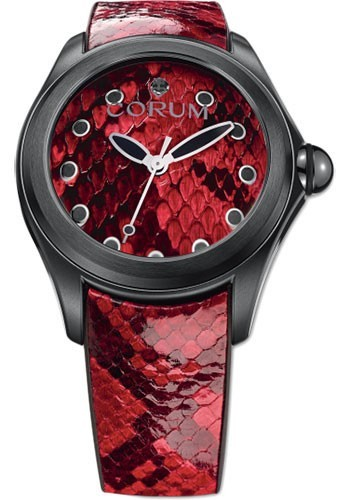 Corum Corum Bubble Art in Stainless Steel with Black PVD