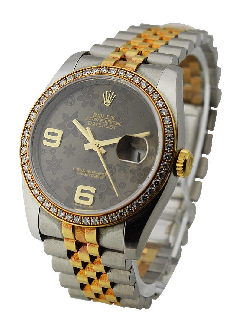Rolex Used 36mm 2 Tone Datejust with Diamond Bezel