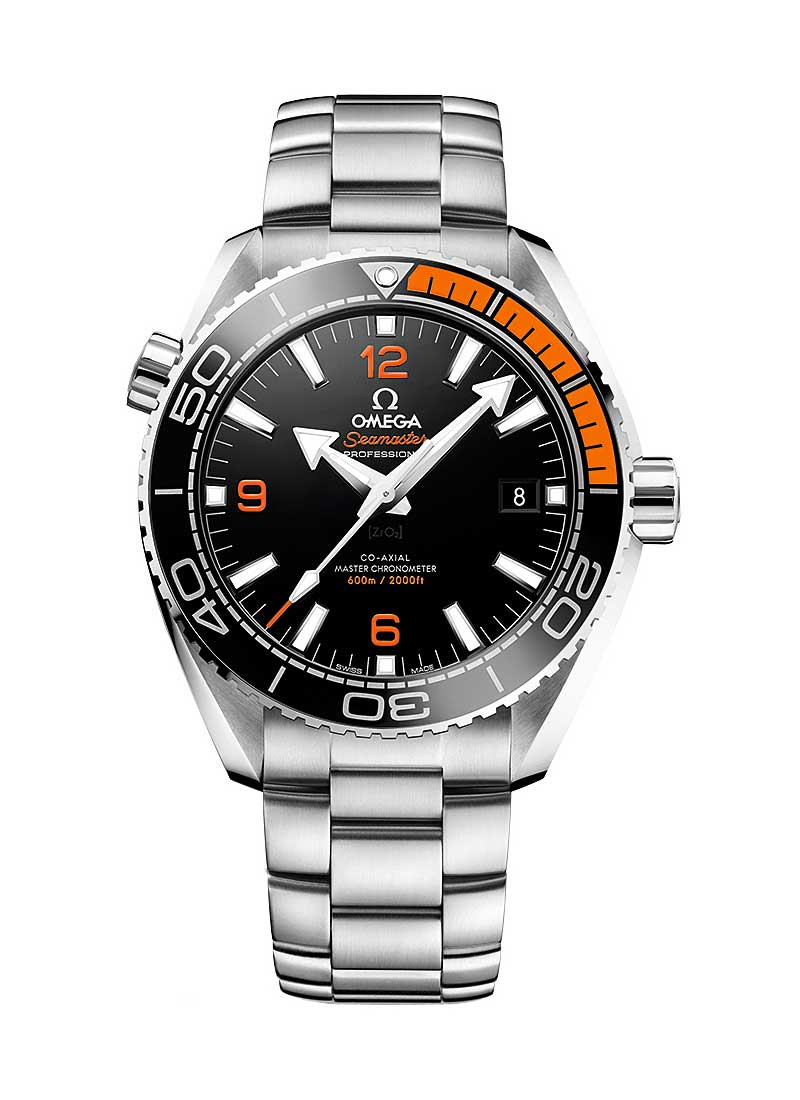 Omega Seamaster Planet Ocean in Steel with Black and Orange Bezel