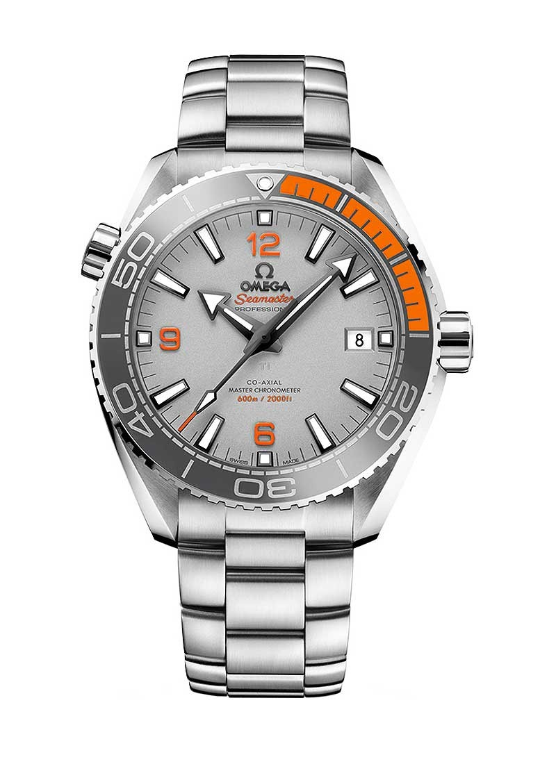 Omega Seamaster Planet Ocean 600m 43.5mm Automatic in Steel - Grey and Orange Bezel