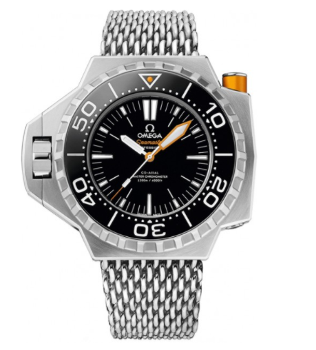 Omega Seamaster Ploprof Co-Axial Master Chronometer in Titanium with Black Bezel