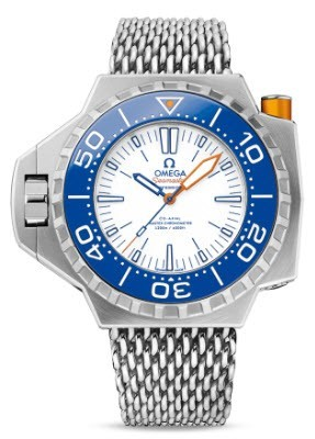 Omega Seamaster Ploprof Co Axial Master Chronometer Automatic in Titanium   Blue Bezel